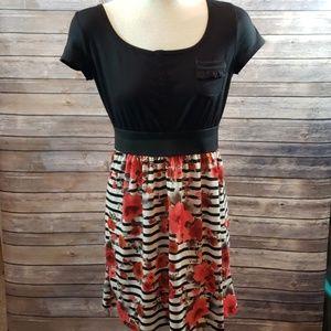 MAURICES Stripe floral dress size M